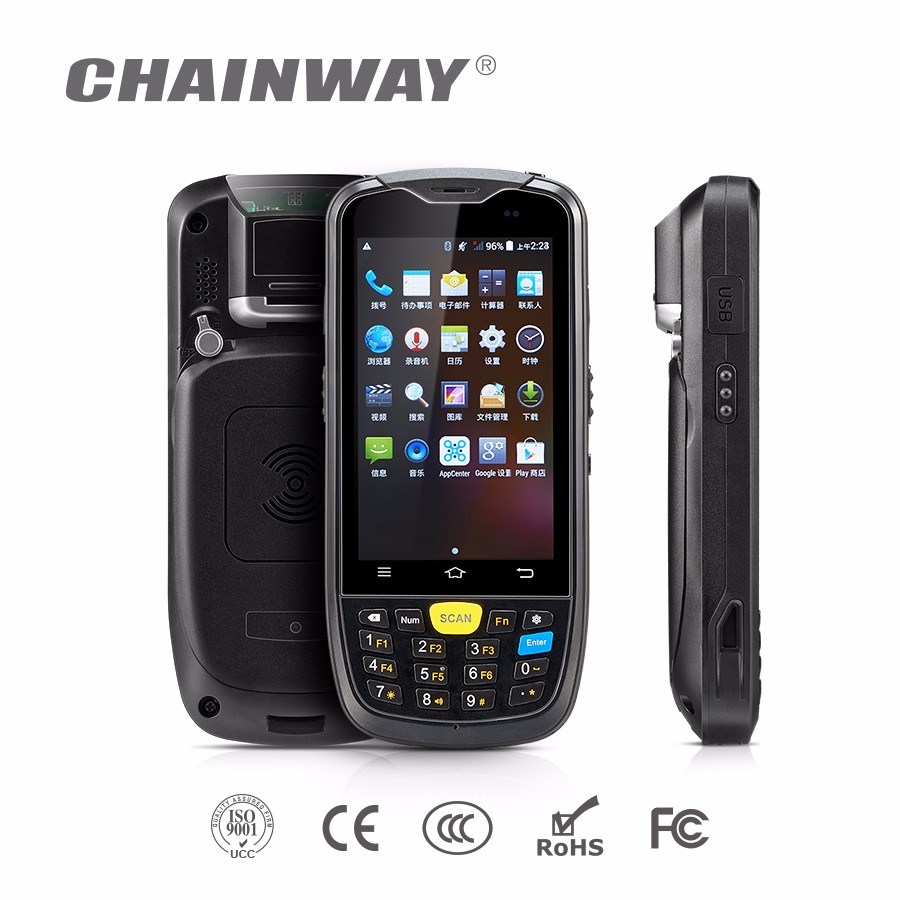 Chainway C6000 Android Rugged Handheld RFID Reader with Bracode / 3G/4G / Wifi / Bluetooth / GPS / Camera