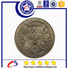 custom cheap challenge brass military coins with design draft