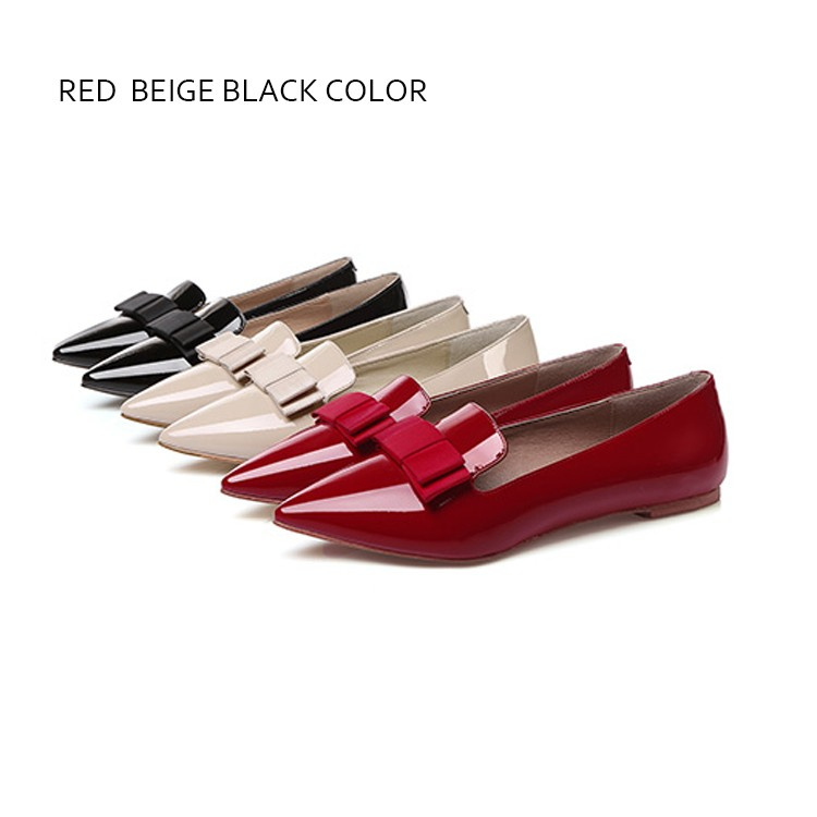 patent cow leather flat shoes women ladies beautiful flat
