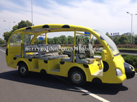 New kids electric car solar electric tourist bus for sale