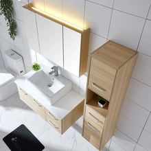 2018 Whitelover Modern design laminate bathroom vanity top/wall-mounted lowes bathroom cabinet with stone sink