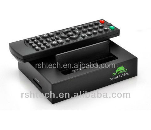 VGA output android tv box , dual core cortex A7 supports google tv market ,skype webcam chat and HDMI output