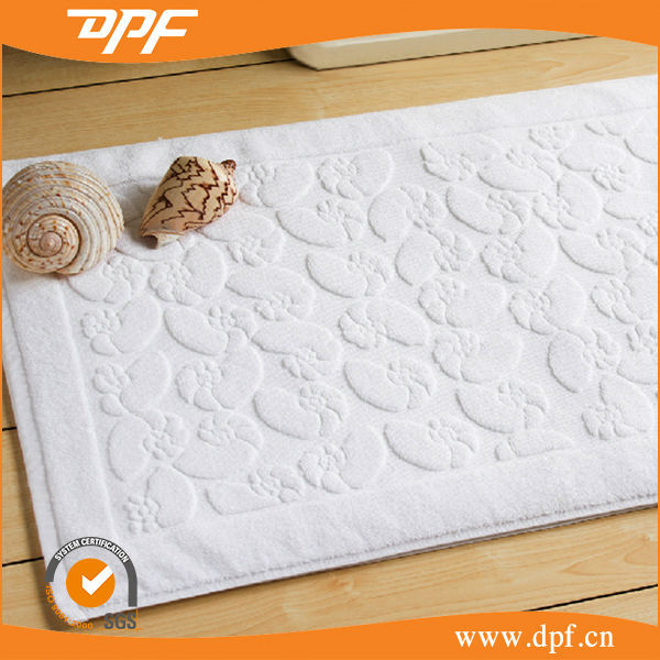 Durable Chinese Cotton Label Logo Sewing Bath Mat