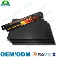Set of 3 Premium quality non-stick bbq grill mat, charcoal grill mat