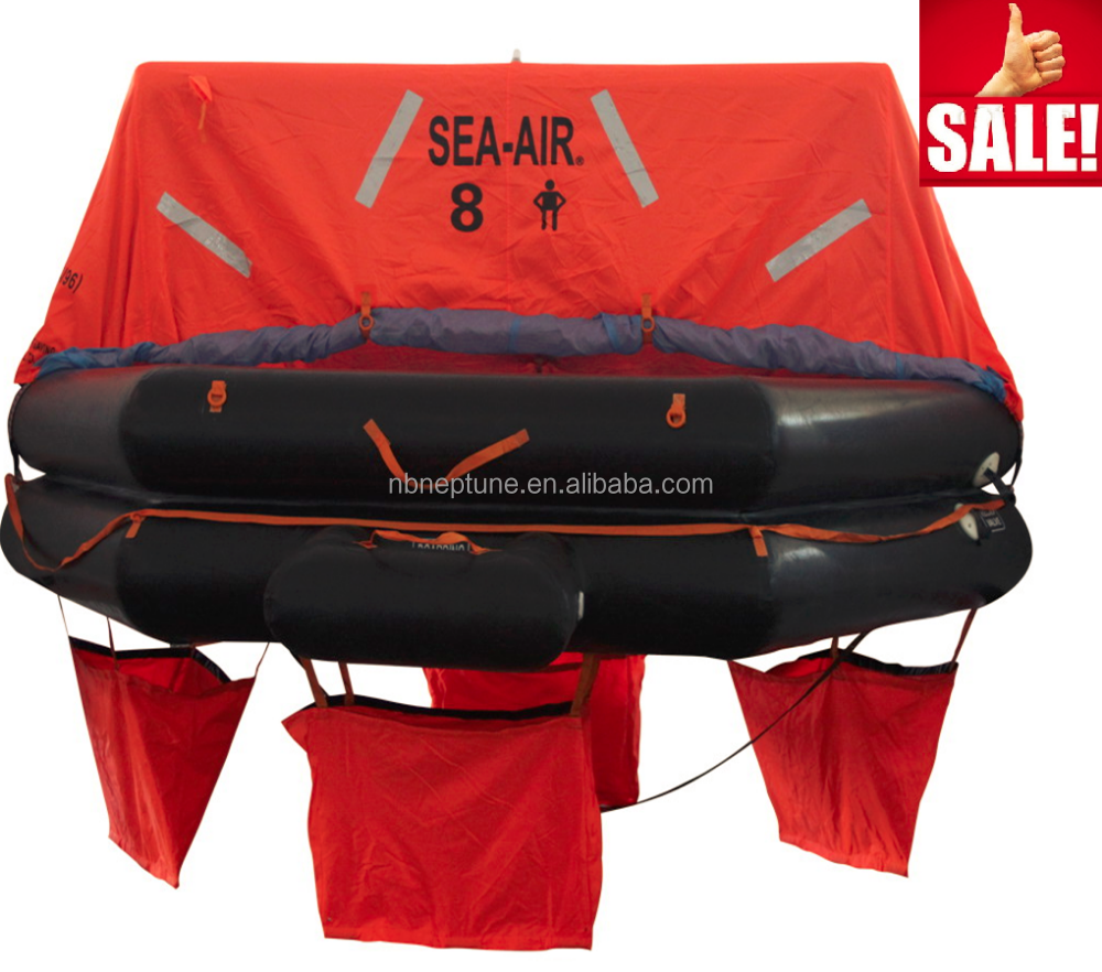8 Man GRP Container Pack a Inflatable Rubber Life Raft