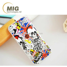 New arrival colored drawing skull pattern tpu mobile/ cell phone case for iphone 6s