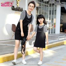 2017 new style t shirt + dress parent-child clothing mother and daughter matching dress