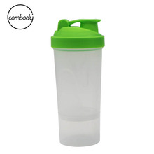 Hot sale multifunction OEM BPA free plastic protein shaker water bottle