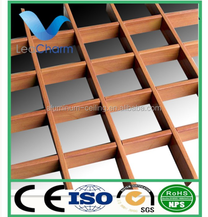 Aluminum open cell grid ceiling panel