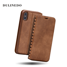 2017 OEM ODM retro Leather Flip Case for iPhone 7 7 Plus ,mobile phone case for iphone 7