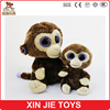 customize big eyes plush monkey toy good quality stuffed africa animal toy wholesale soft monkey toy