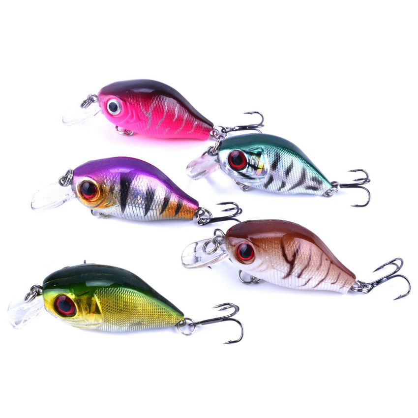 5Pcs/Pack 8.5G 5.5CM Bass Fishing Lures Crank Bait Crankbait Tackle Swim bait wobblers fishing japan Hard Crazy Fish Lure