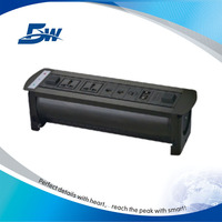 Guangzhou BW Audiovisual office table - cable mgt system