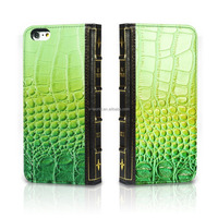 Noble card slots handheld shockproof book croco leather phone case for iphone 6/6s
