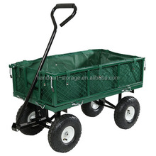 steel Flatbed Utility Garden Cart with Removable Sides