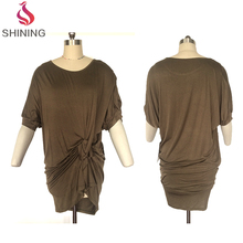 Women summer Dress Half Sleeve Elegant Ladies big sizes clothing sample summer ladies dresses