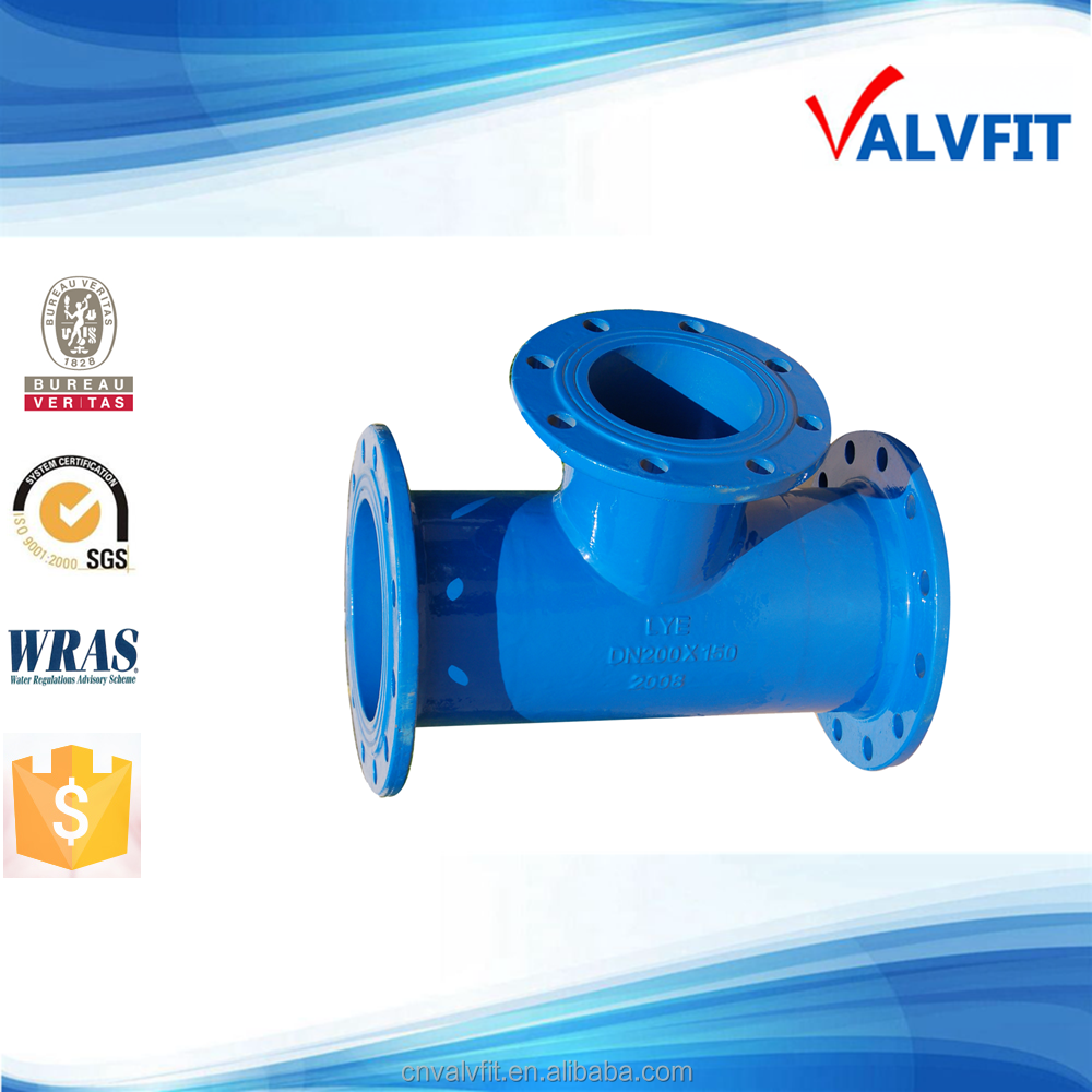 ductile iron fixed flange pipe fittings
