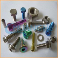 High precision hardware colored titanium bolts and nuts