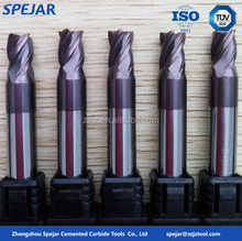 high performance lathe carbide radius end mills cutting tools manufacturers