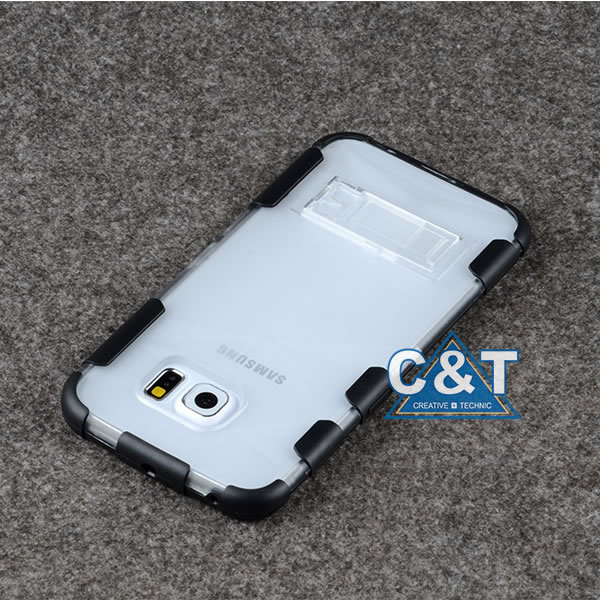 C&T Dual Layer Hybrid Armor Rugged Case Cover For Samsung Galaxy S6 Edge