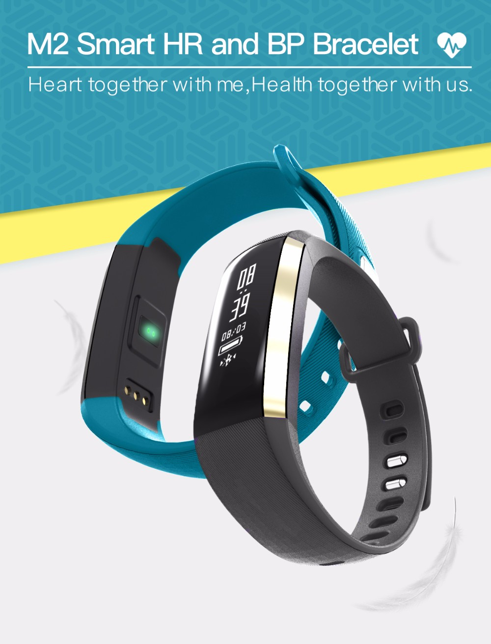 Special offer m2 smart bracelet m2 heart rate blood pressure monitor