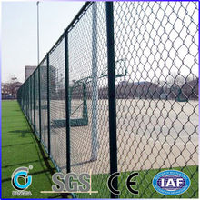 The school playground PVC coated chain link fence