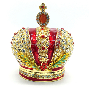 decorative Wholesale metal kings crown with cross