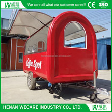 Best serve outdoor customized Motorcycle food tricycle cart for sale