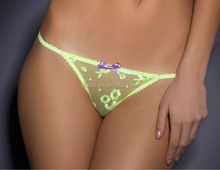 '60s-inspired floral embroidery panty thong