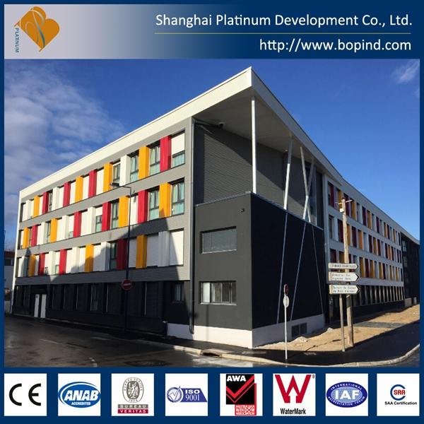 China supplier beautiful 3D rendering apartment building, modular apartment building