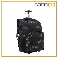 Sandoo hot sale popular funky wheel bag, fashion laptop wheeled backpack
