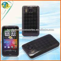 For HTC inspire 4G desire HD smoke color checker tpu case cover
