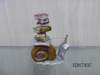 resin animal gift garden decoration snail