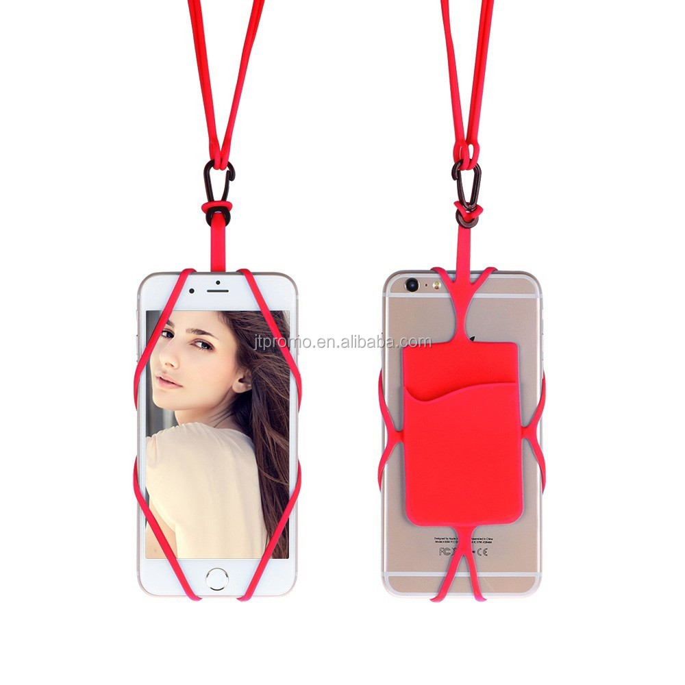 Silicone Lanyard Cell Phone Case Cover Holder Sling Necklace Wrist Strap