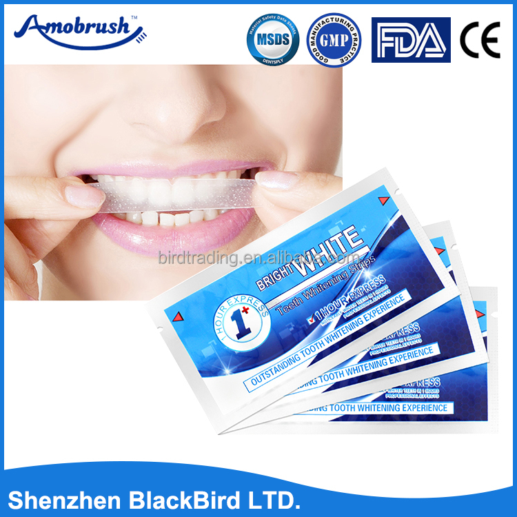 Luxury whitening 3d Teeth Whitening Dry strips/no need toothpaste