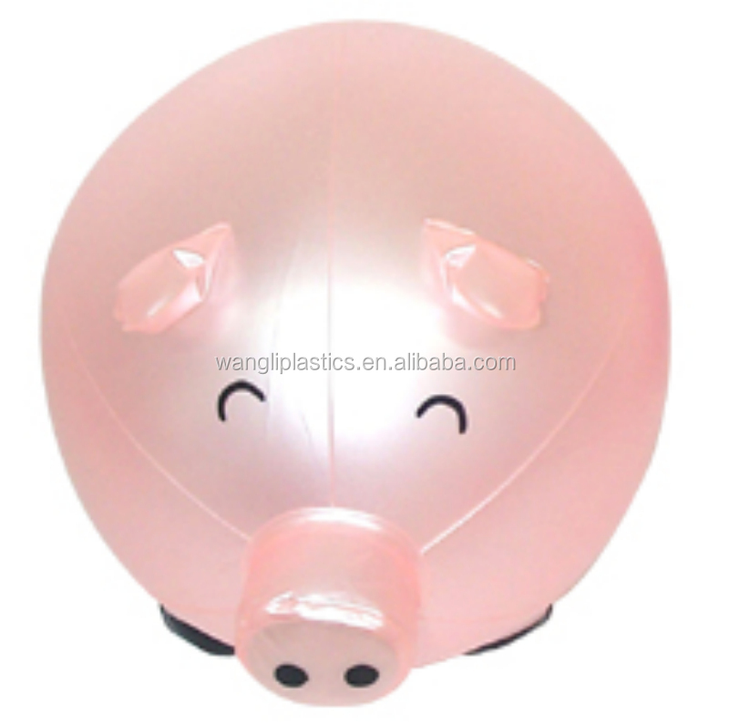 Hot selling pig beach ball inflatable children cute beach ball