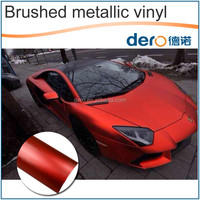 Dero new product ! Red Color Matte Metallic Brushed Protective Film for Car Body