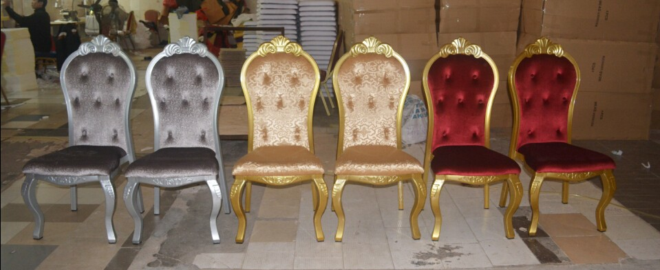 luxury metal chair for dining and banquet