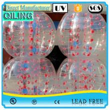 QL Top seller transparent TPU inflatable giga bumper ball for kids