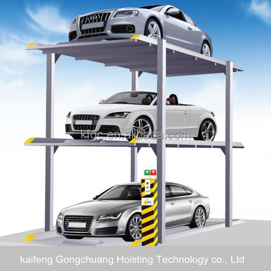 Cheap 3 level underground parking design garage car lift