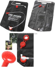 Outdoor 20L camping shower bag solar water bladder