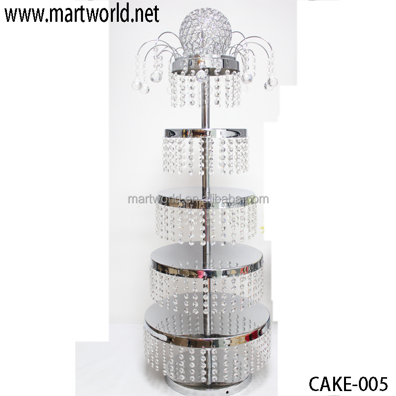 Cake New Design 2018 : 2018 New Design Wedding Cake Stand With Crystal Hanging ...