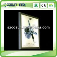 Ultra Single Side Acrylic Advertising Indoor LED Light Snape Frame