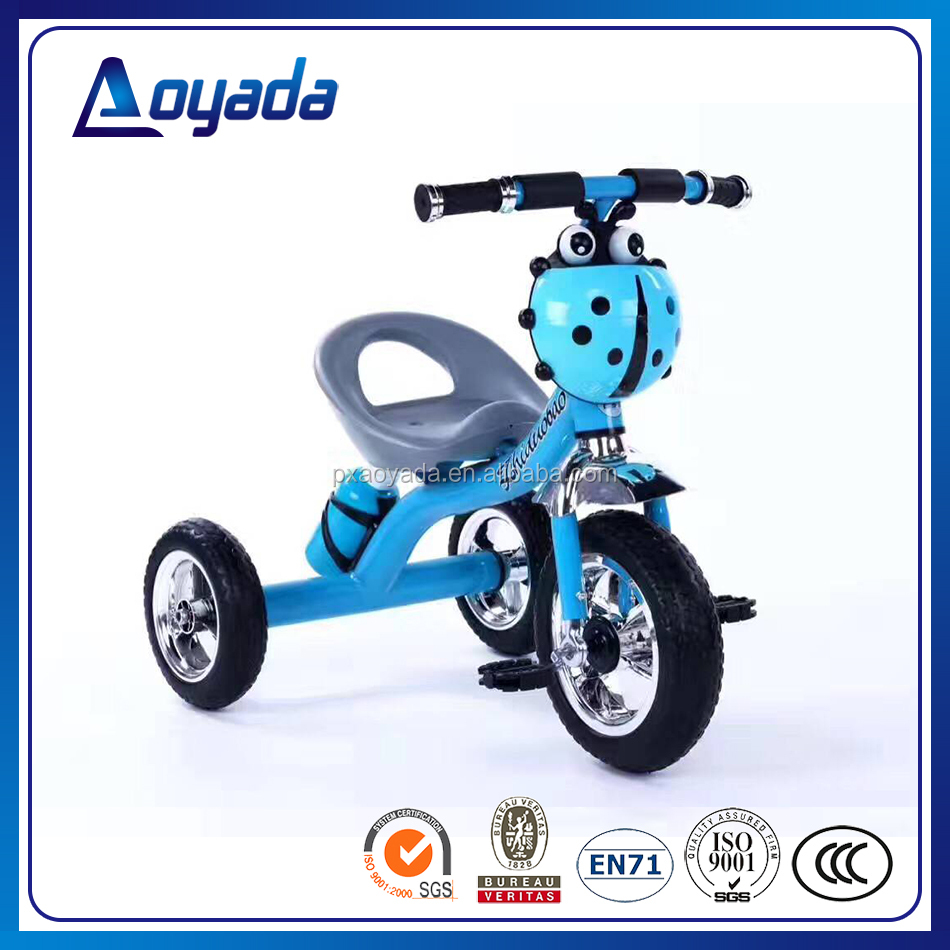 Cheap price lovely 3 wheel pedal car / air wheeled tricycle kids / kids trike with water bottle