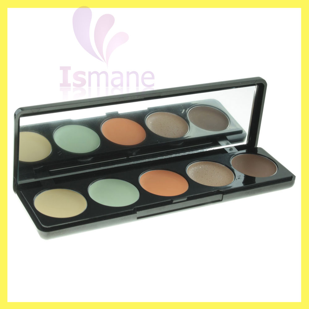 China Supplier 2016 Hot Selling Professional Makeup Neutral Base 5 Color Contour Concealer Palette