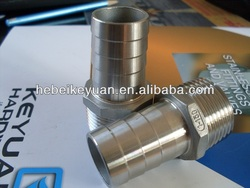 stainless steel bsp male thread hose nipples stretch