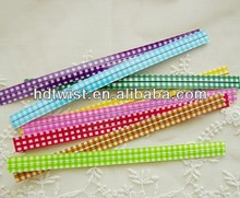 Pastel Twist Tie/ Gingham Check Twist Tie/Decorative Twist Tie