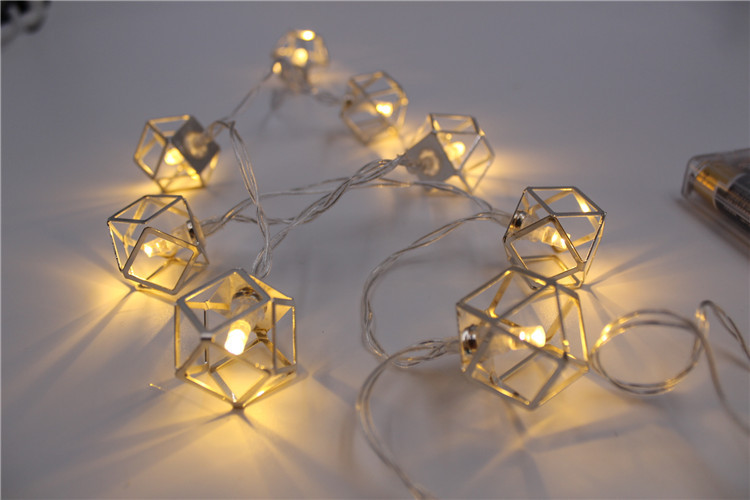 Metal, wrought iron lamp , LED battery holiday lights 1.5M 10 PCS Christmas lights