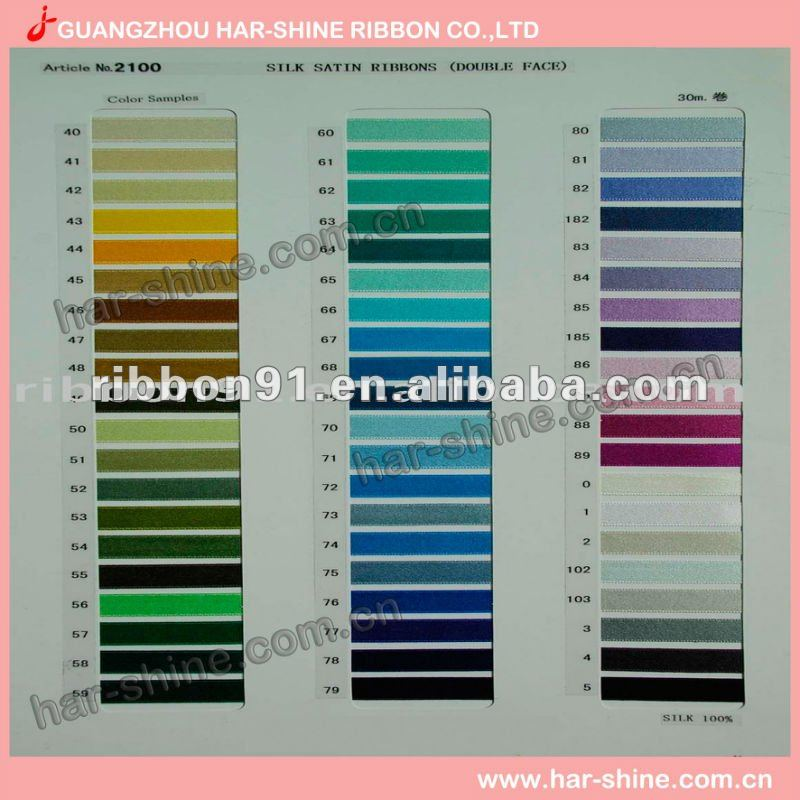 Imported silk ribbon