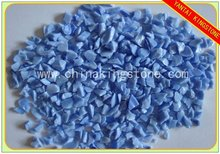turquoise blue glass chippings for terrazzo